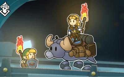 Así luciría Link en un juego estilo Paper Mario